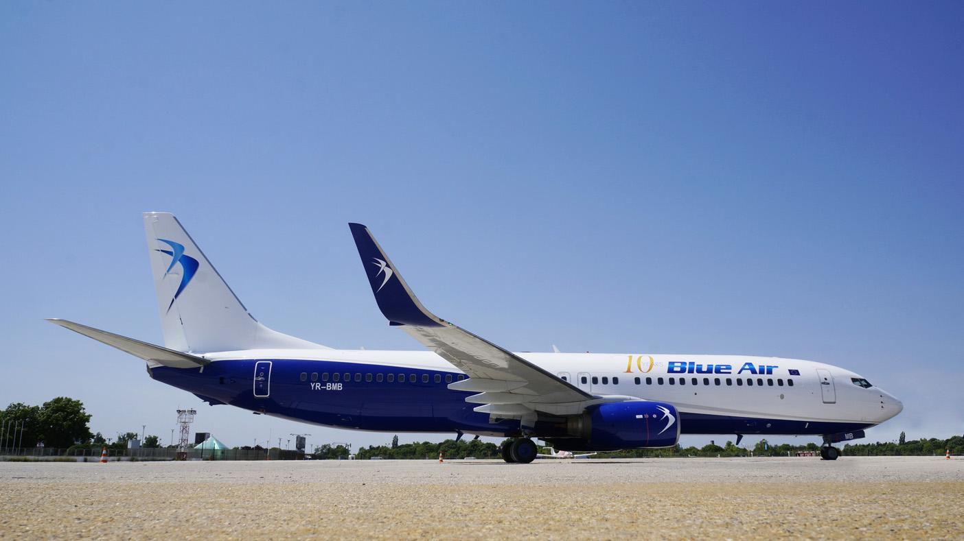 BlueAir: 23 de rute noi și zboruri de conexiune în 2016